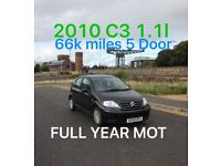 £1685 2010 Citroen C3 1.1l* like fiesta punto yaris micra corsa c1 aygo 107 getz polo