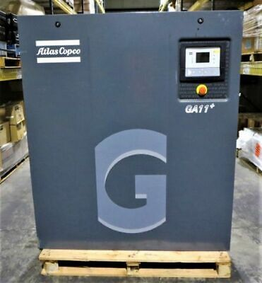 ATLAS COPCO GA11P Oil-injected rotary screw compressor; 60 Hz; 15 HP (USED)