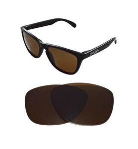 Nuevo-Polarizado-Bronce-Lente-De-Repuesto-Para-Oakley-Frogskins-Sunglasses