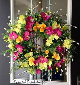 Orchid & Willow Wreath/ Spring Wreath/ Summer Wreath