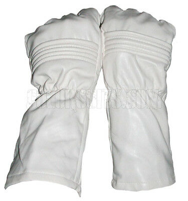 Power Man Super hero Ranger gloves style / White Synthetic Leather