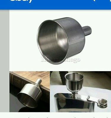 Maxam  Large Stainless Steel Flask Funnel Set Polished Finish 1pc