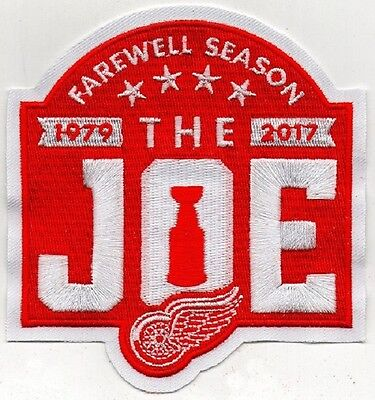 DETROIT RED WINGS PATCH JOE LOUIS ARENA FAREWELL SEASON PUCK STYLE GORDIE HOWE