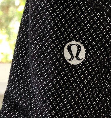 ☀️Lululemon Black Forme Jacket DIAMOND DOT Print Define Full-Zip ~Women's 2 SLIM