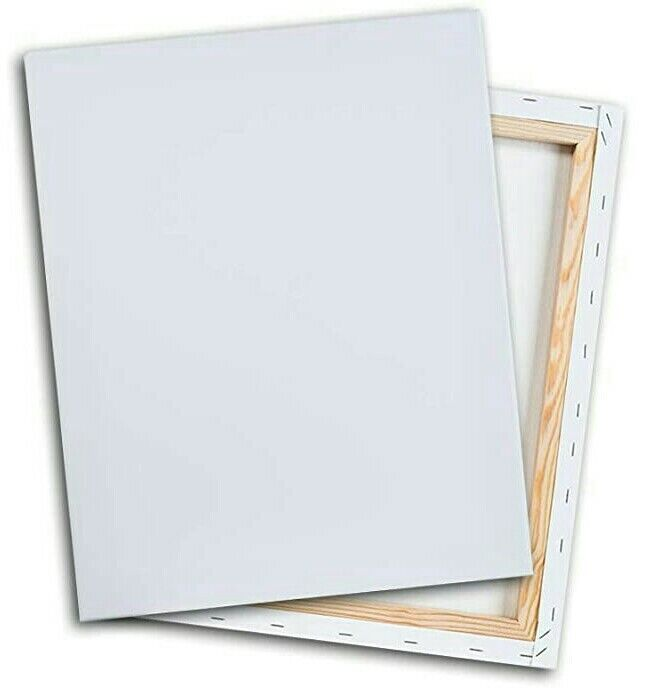 """3pk 8""""x10"""" White Cotton Stretched Art Canvases Canvas 5/8"""" Painting Acrylic Oil"""