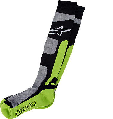 New Alpinestars Adult S/M MX Pro Socks Green Coolmax  Motocross Enduro