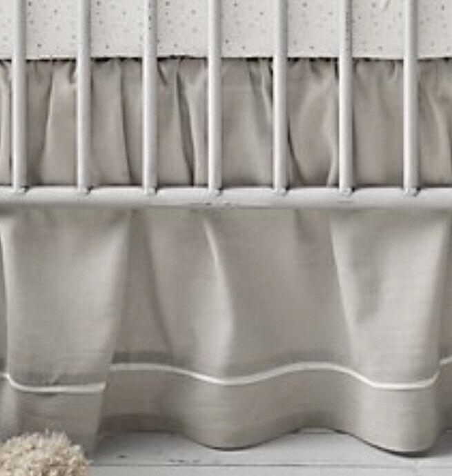 NEW Restoration Hardware Baby Child BOUCLE Cloud Crib Skirt