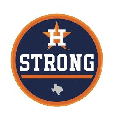 Houston Astros - Houston Strong Sticker Logo Texas Jersey Patch World Series