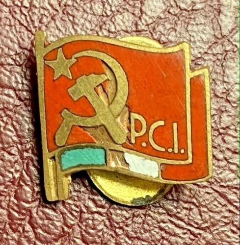 Italy PCI Italian Communist Party member badge pin lapel made Paccagnini Milano