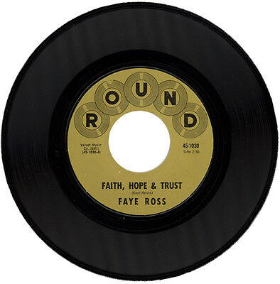 """FAYE ROSS  """"FAITH, HOPE & TRUST c/w YOU AIN'T RIGHT""""  NORTHERN SOUL   LISTEN!"""
