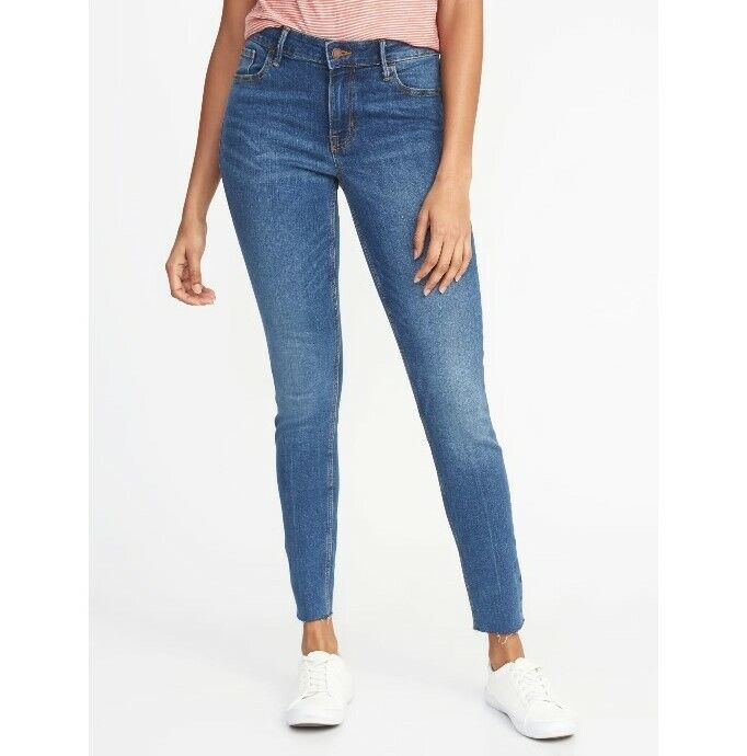 Old Navy Mid-Rise Raw-Edge Rockstar Ankle Jeans for Women /