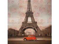 Classic Eiffel Tower shot with Citroen CV. Clean and very good condition.