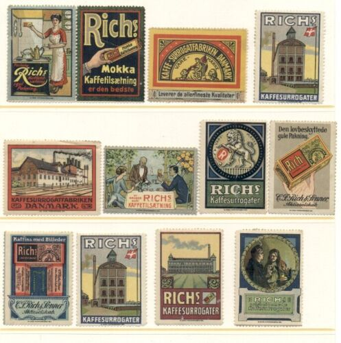 EARLY COFFEE ADVERTISING STAMPS FOR RICH