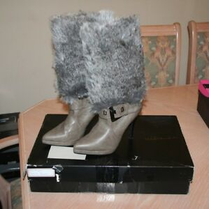 Michael Antonio High Heel Boots with Removable Fur - Size 7