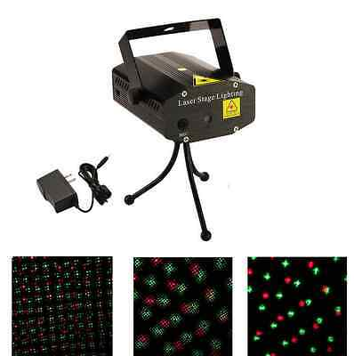 Mini Led R G Laser Projector Stage Lighting Adjustment Dj Disco Party Club Black