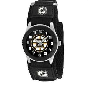 "GAME TIME UNISEX NHL-ROB-BOS ""ROOKIE BLACK"" WATCH - BOSTON BRUINS"
