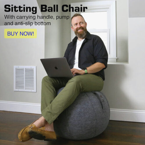 pilates sitting ball inflatable improve posture fabric
