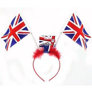 Fluffy Great Britain Union Jack Flag Headbopper