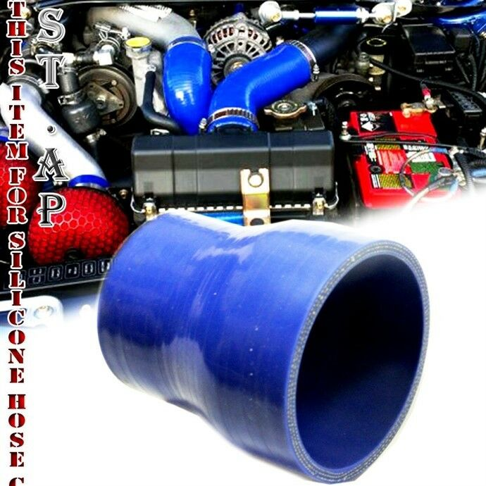 2 To 2.5 Straight Turbo//Intercooler//Intake Piping Coupler Reducer Silicone Hose Blue