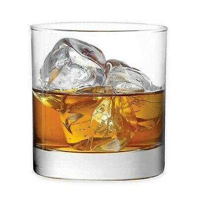 Dailyware Double Old Fashioned Whiskey Glass Set of 4 - 11 oz Whiskey Glasses