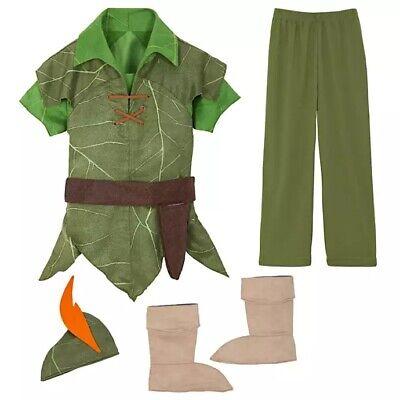 NWT Disney Store Sz 5 6 7 8 9 10 Peter Pan Costume for Kids
