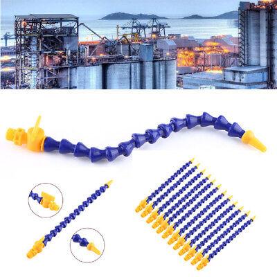 12pcs Lathe CNC Machine Adjustable Flexible Plastic Water Oil Coolant Pipe Hose Plastic Flexible Tube