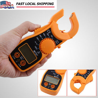 Lcd Multimeter Electronic Voltage Current Tester Acdc Clamp Meter Practical