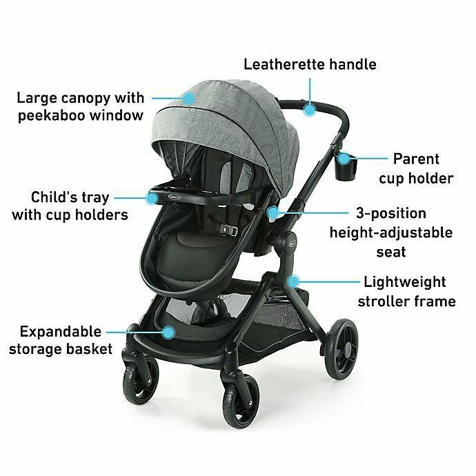 Graco Modes Nest Single Baby Stroller in Nico - Grey