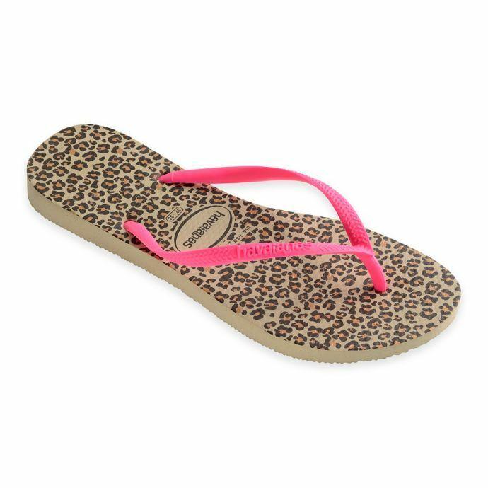 Havaianas Women's Slim Animals Sandal Flip Flop Sand Grey/Pi