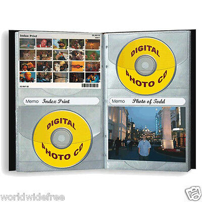 (2-Pioneer CD-48 Digital European Bonded  LEATHER Photo Albums holds 24 CD/DVD)