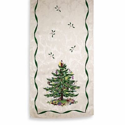 "Spode 72"" Christmas Tree Table Runner - NEW - Ivory"