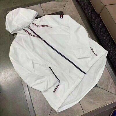 Tommy Hilfiger Womens White Wind Breaker Jacket (large)