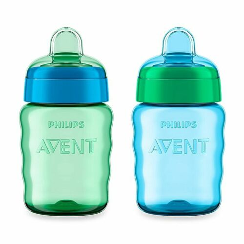 Philips AVENT My Easy Sippy Cup with Soft Spout & Spill Free 9oz 2-Pack  -NEW-