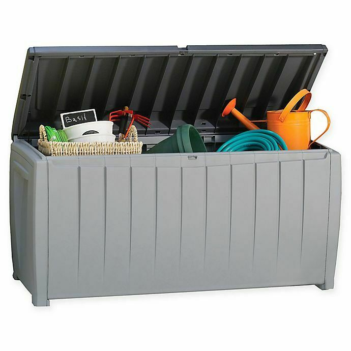 Storage Deck Box Outdoor Bench Chest Container Bin Patio Ket
