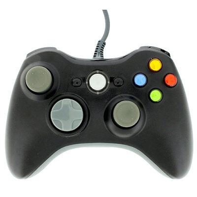 Black Usb Wired Gamepad Controller Joypad Joystick For Xbox 360 Pc Windows