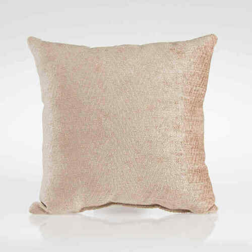 "Glenna Jean Dylan Tan Velvet Throw Pillow - Decorative Pillow 12"" square"