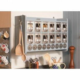 Large Ella's kitchen spice cabinet, grey