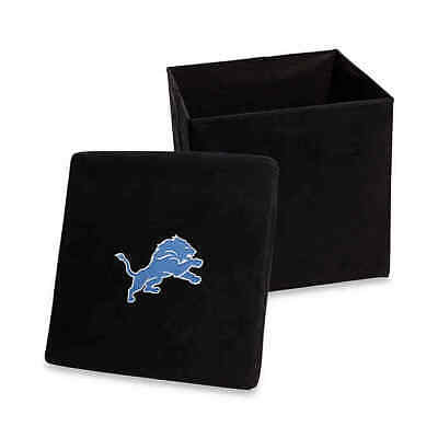 NFL Detroit Lions Collapsible Storage Ottoman