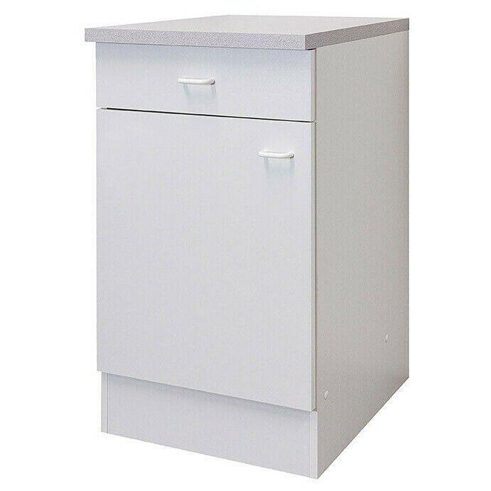 Küchenschrank Küche Unterschrank 50 cm Küchenuntersch Küchenmöbel Weiss