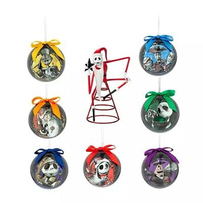 Disney Store Parks Jack Skellington Nightmare Christmas Ornaments & Tree Topper
