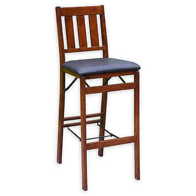NEW Linon Home Mission Back Folding Bar Stool CHAIR - Walnut (518)