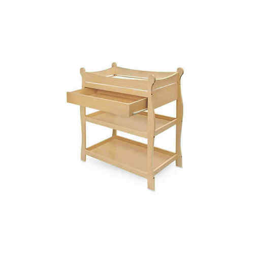 Badger Basket Natural Sleigh Style Changing Table with Drawer     927
