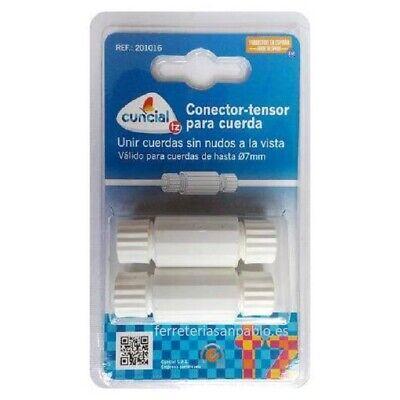 2unid TENSOR DE CUERDAS PARA TENDEDERO CUERDA CONECTOR PLASTICO TENSADOR ROSCADO