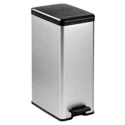 Curver 40-Liter Slim Metallic Trash Can - Silver (new item)