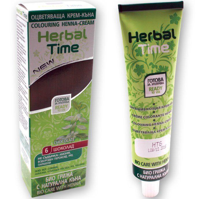 100% Bio Henna Haarfarbe Creme Color Pflanzen Naturhaarfärbemittel Schokobraun