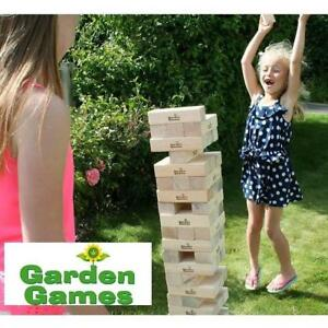 NEW GARDEN GAMES MEGA HI TOWER 5067 205341987 LARGE JENGA TOY WOODEN 7'' BLOCKS