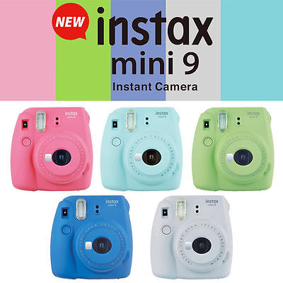 NEW! Fujifilm Instax Mini 9 Instant Film Camera - CHOOSE COLOR