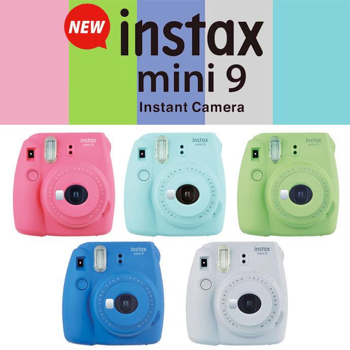 NEW! Fujifilm Instax Mini 9 Instant Film Camera - CHOOSE COL