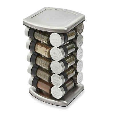 Olde Thompson 20 Jar Embossed Revolving Spice Rack SPICES INCLUDED, Kitchen Jars Olde Thompson Spice Jars