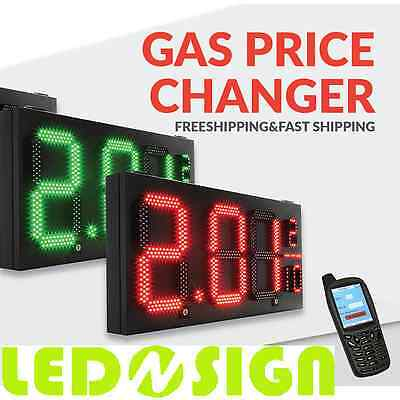 Led Sign Gas Pricer Red Green - Letter Size 12 16 20 24 Selection